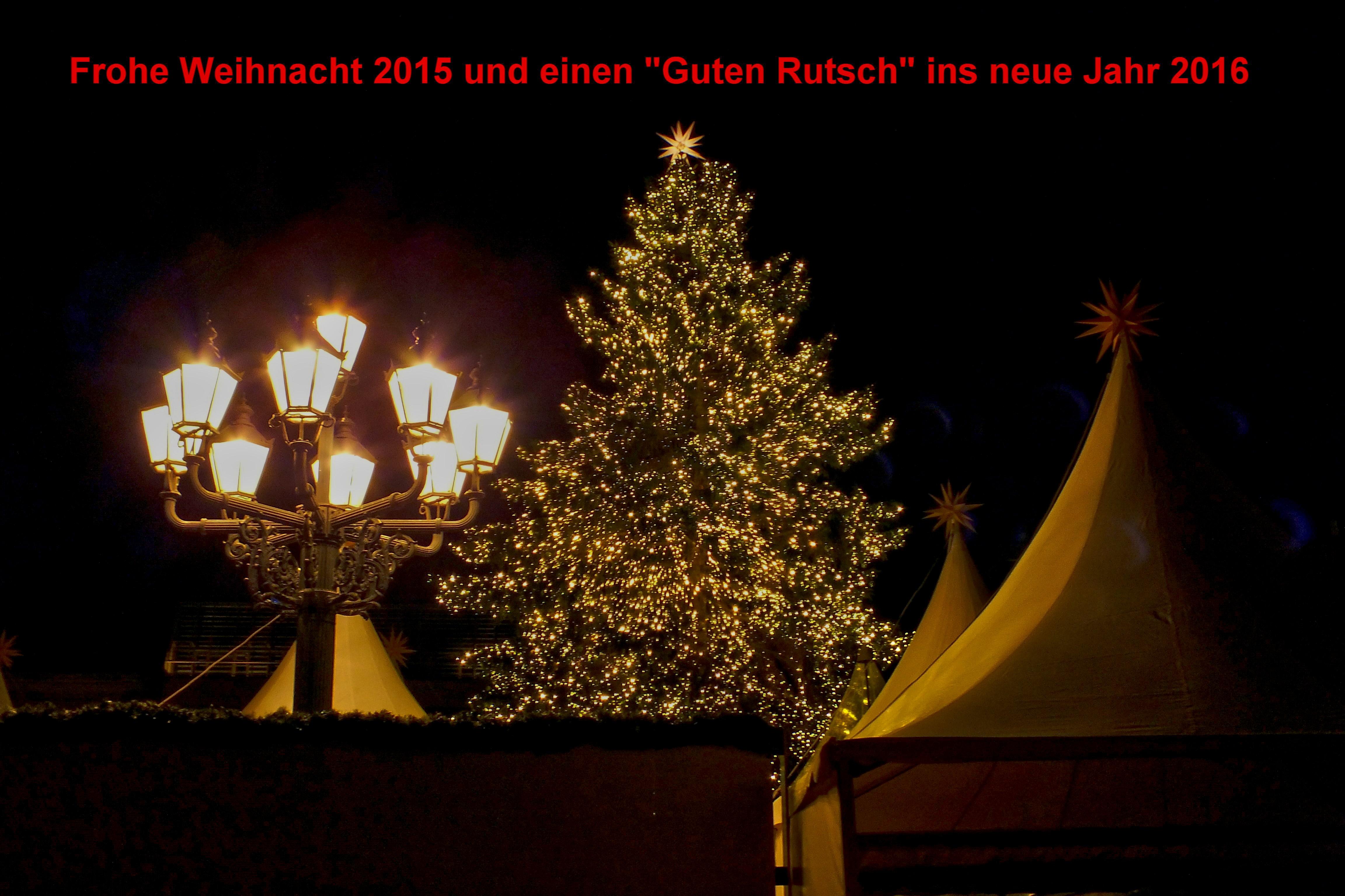 """Weihnachtsgruß und einen """"Guten Rutsch"""" für unsere Mitglieder ..."""